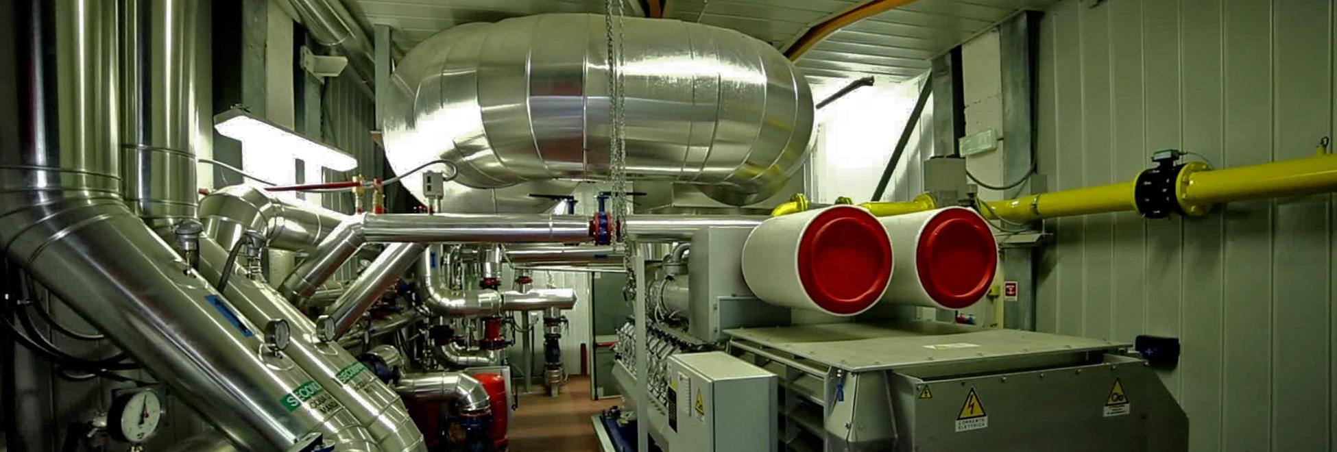 Realizziamo impianti per la produzione combinata di energia termica, frigorifera ed elettrica curandone: Progettazione, Costruzione, Manutenzione, Conduzione